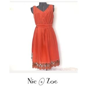 Nie and Zoe clay dress for women SZ 10